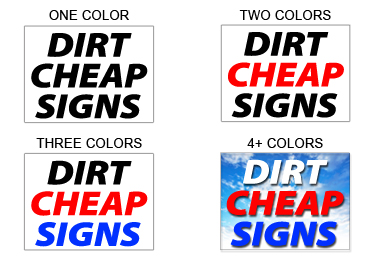 Cheap Yard Signs Bandit Signs Custom Lawn Sign Campaign