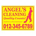Cleaning Sign Templates