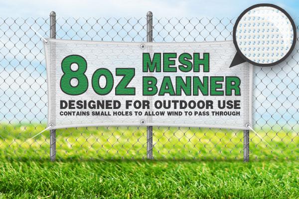 8oz Mesh Banner