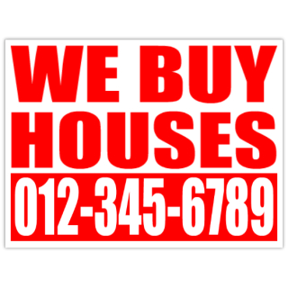 We Buy Houses Bandit Signs Cheap Investor Lawn Signs