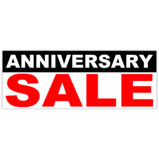 anniversary sale banner cheap business banners