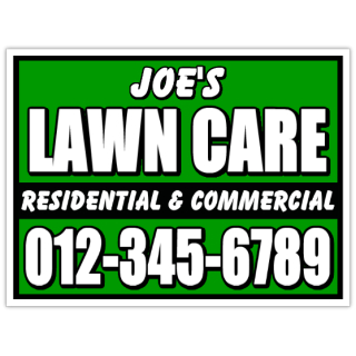 Yard Work Signs Lawn Care Sign Landscaping