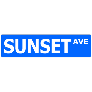 Sunset+Ave+Street+Sign