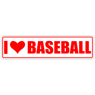 I+Love+Baseball+Street+Sign