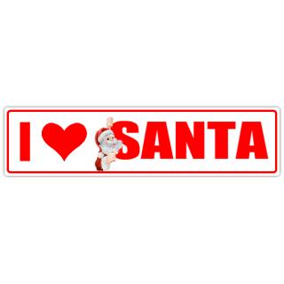 I+Love+Santa+Street+Sign