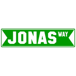 Jonas street sign name street sign templates design templates street signs 6x24 emerald green pronofoot35fo Choice Image