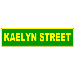 Kaelyn+Street+Sign