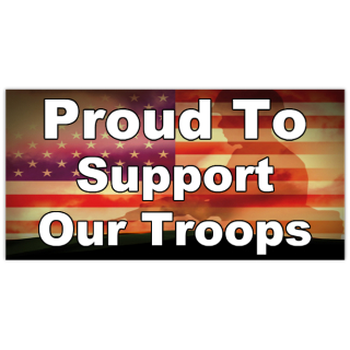 Proud To Support Military Banner Templates Design