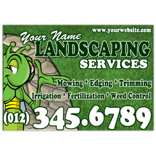 Landscaping+Services+Car+Magnet+108