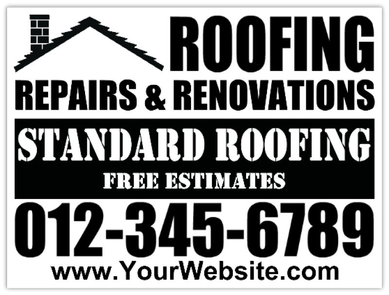 Roofer Signs Roofing Company Sign Hail Damage