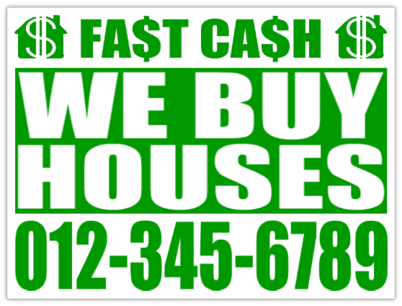 Fast Cash Investor Sign Lawn Bandit Signs