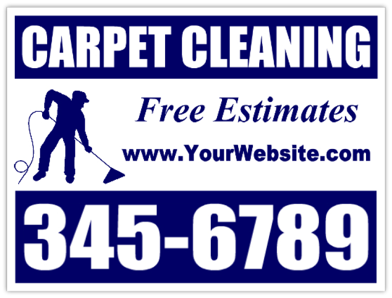 Carpet Cleaning Signs - Carpet Cleaner Advertising