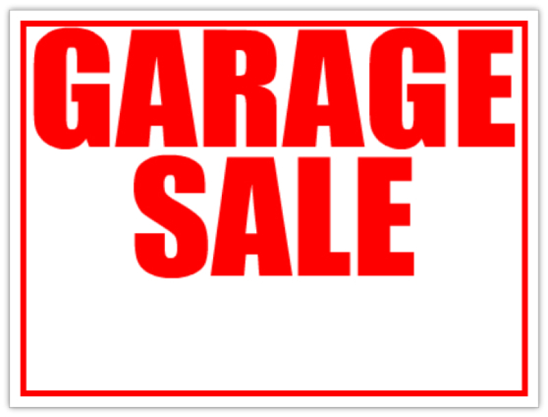 Garage Sale Lawn Sell Sign  Red Yard Sale Signs