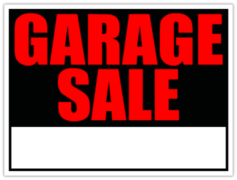 Dynamic image in printable garage sale signs