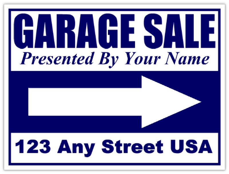 garage sale sign templates .
