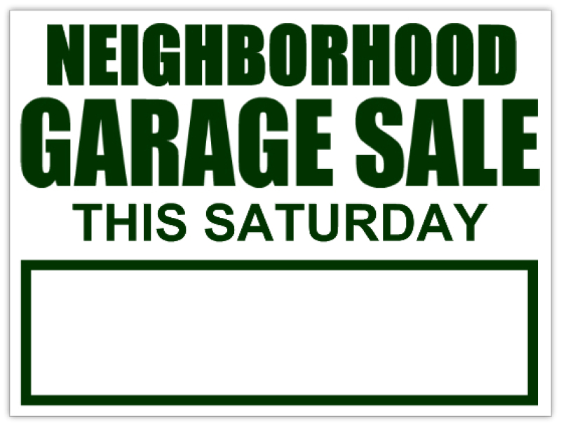 photograph about Printable Garage Sale Sign known as Garage sale signal templates - pelc.tk