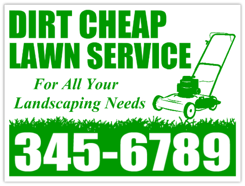 Lawn Service Signs Landscaping Yard Sign