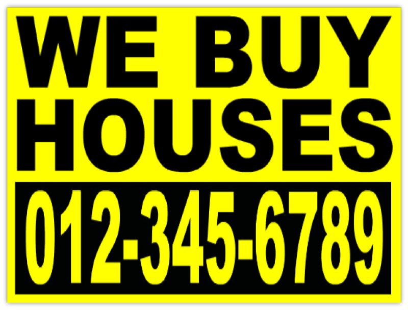 Investor we buy houses bandit sign yard signs Buy house com