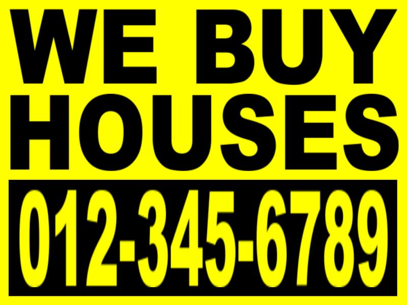 investor we buy houses bandit sign