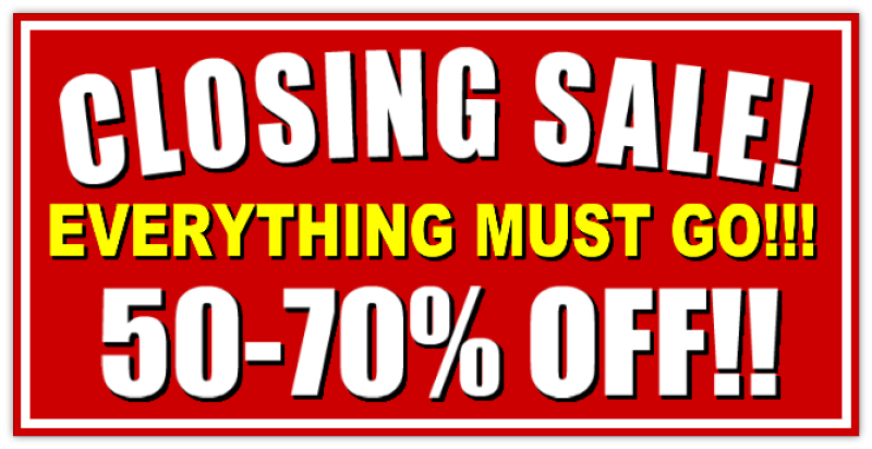 Closing Sale Banner Promotion Banners