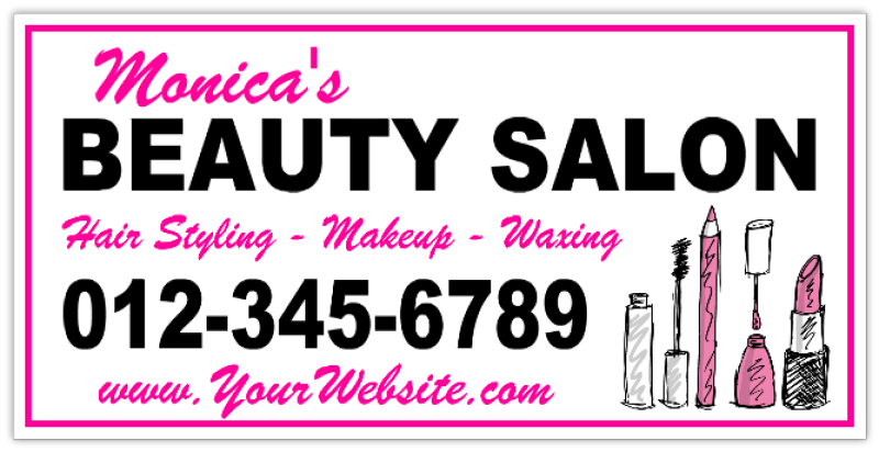 Beauty salon banner 101 spa and fashion banner templates for 101 beauty salon