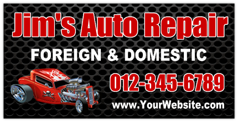 automotive sign banners