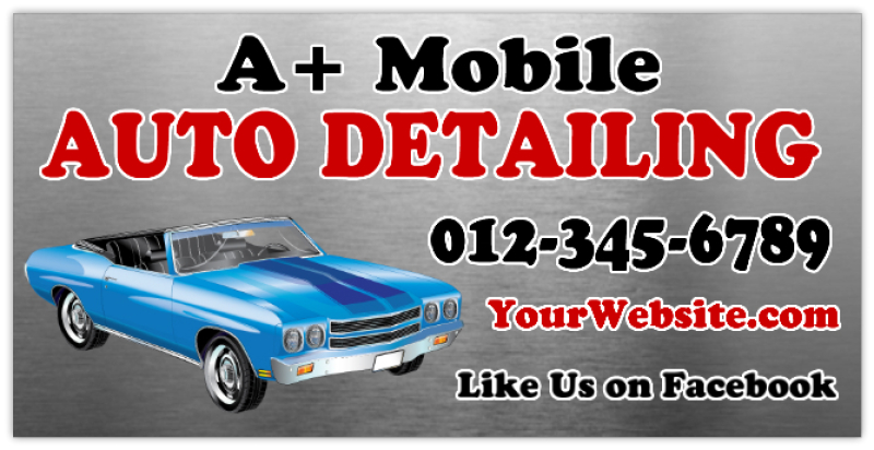 Auto Detailing Banner 101 Car Service Banner Templates
