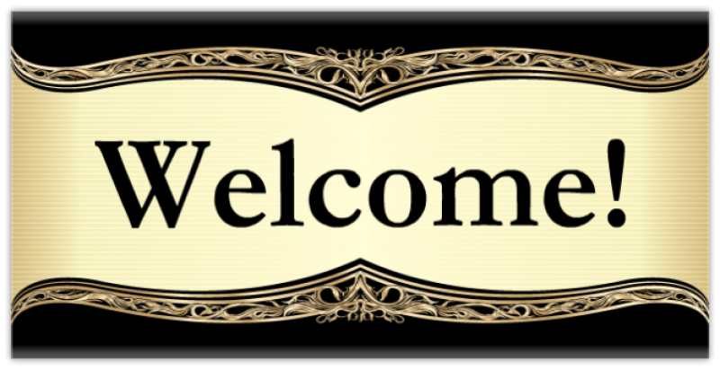 Slobbery image within welcome sign template