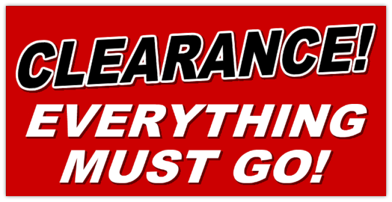Everything Must Go Banner Retail Sale Banner Templates