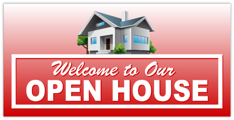 Open House Banner 106 Real Estate Banner Realtor Banners Property For Sale Sign
