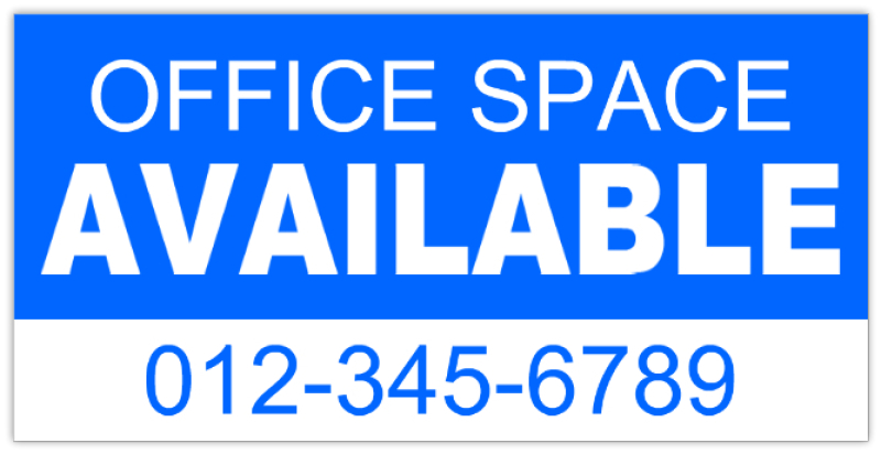 Space available sign