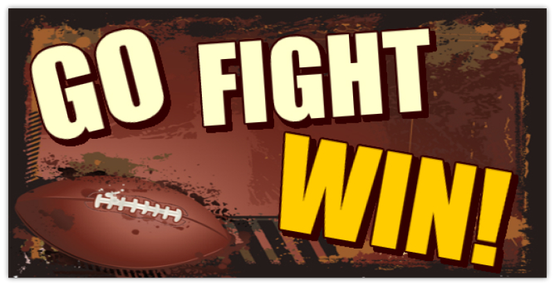 Customize Your Car Online >> Go Fight Win Banner 01 | Sport Banners, Team Banner, Football, Baseball, Little League