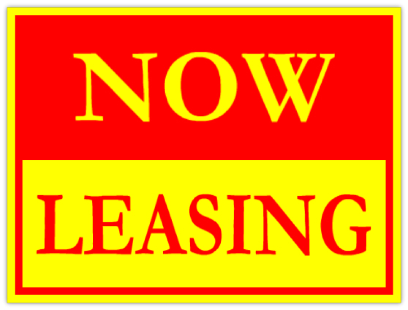 Now Leasing Apartment Yard Signs Red Yellow