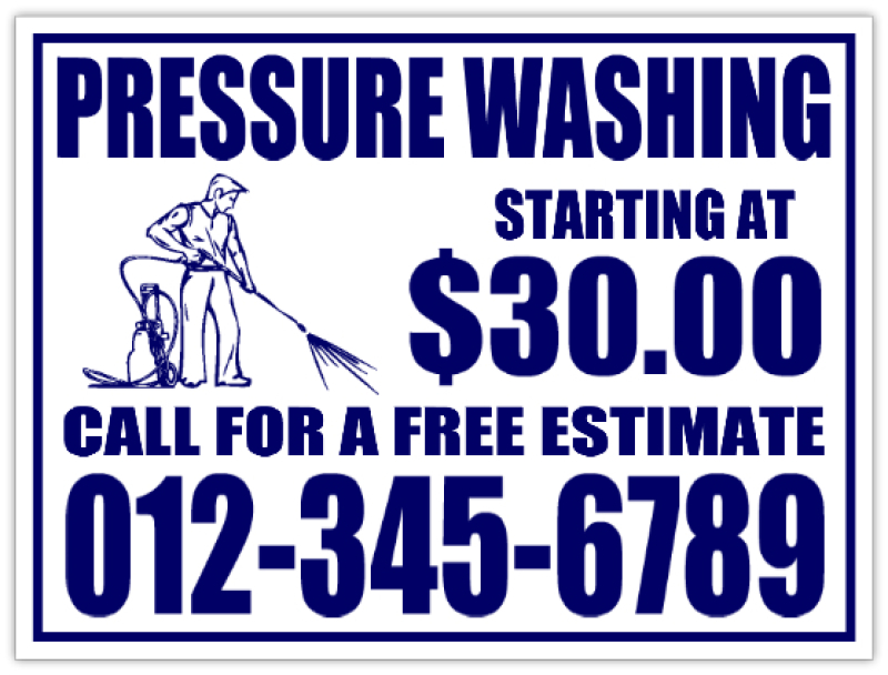 House Pressure Washing Yard Signs