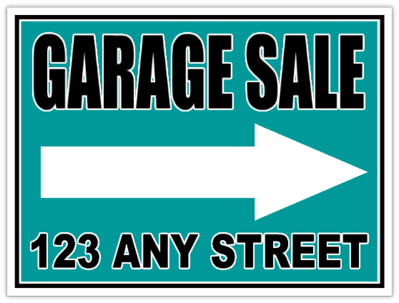 Garage Sale Signs Custom Yard Sale Sign