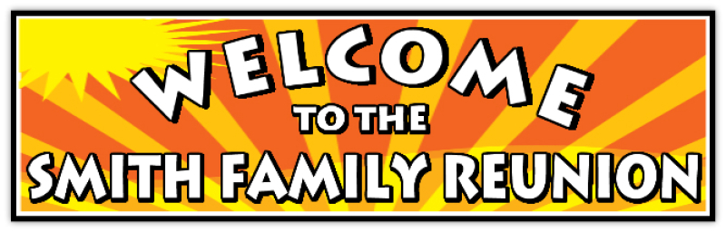 Family Reunion Banners Design Templates