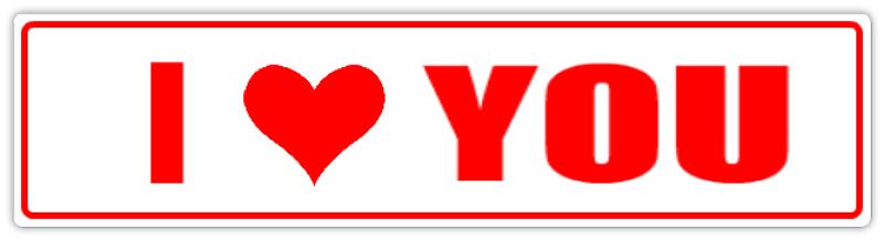 I Love You Street Sign I Heart Street Sign Templates