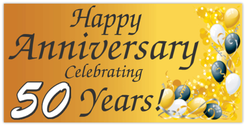 happy anniversay banners 50th anniversary banner