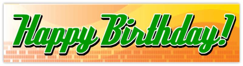 Generic Happy Birthday Banner Cheap Banners
