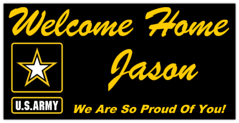 Welcome Home Army Military Banner Templates Design