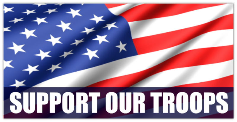 Support Our Troops Military Banner Templates Design
