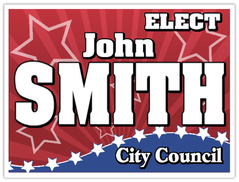 Political121 Political Sign Templates Campaign Signs