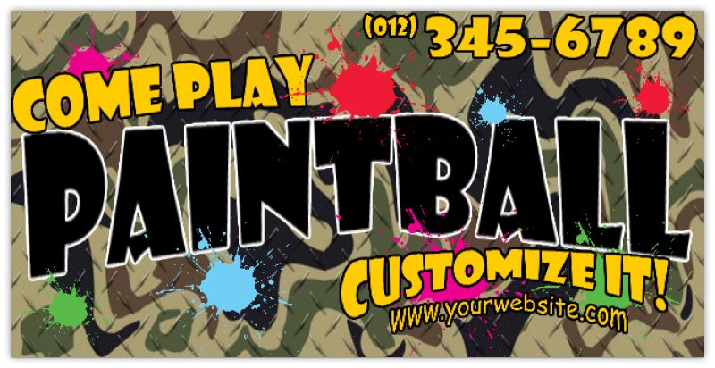 Dirt Street Stock >> Paintball Advertising Banner 101 | Business Banners, Advertising Banner, Vinyl Company Banner