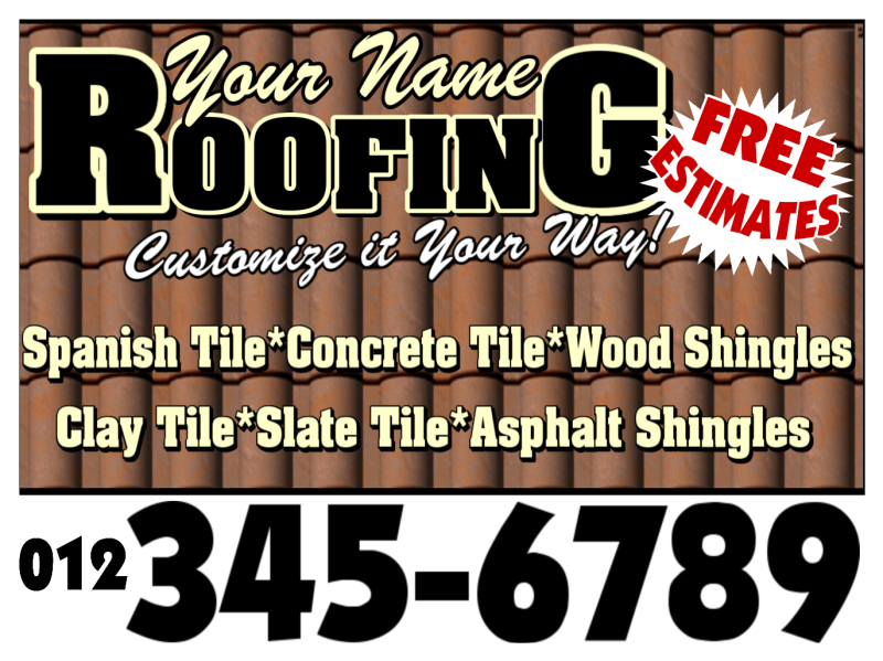 Roofing Sign 115 Roofing Signs Roofers Lawn Signs Hail