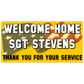 Welcome Home Military Banner