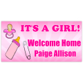 Welcome Home Banner Girl