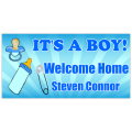 Welcome Home Banner Boy