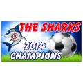 Shark Soccer Banner