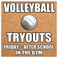 Volleyball Tryouts Banner