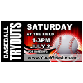Baseball Tryouts Banner 02